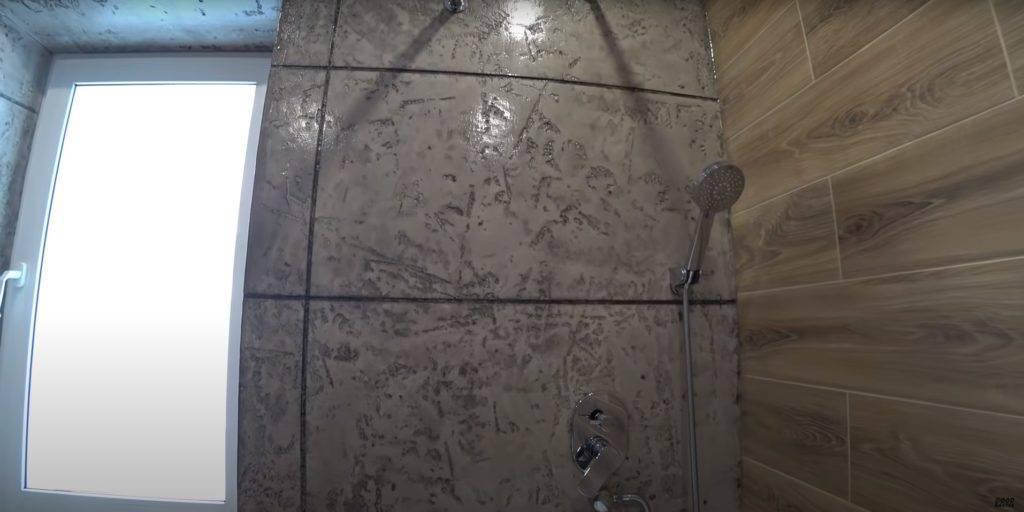 Имитация плитки в ванной своими руками